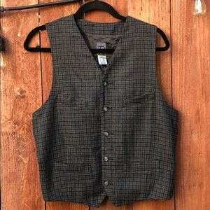 Gap Flannel and Sweater Gap Vest Small